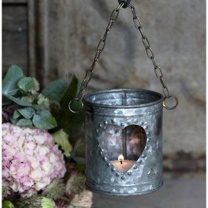 Lampion metalowy  Serce  Chic Antique