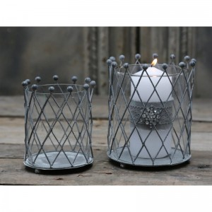 Lampion metalowy Romby 2 Chic Antique